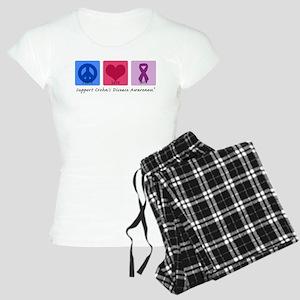 Peace Love Crohn's Women's Light Pajamas