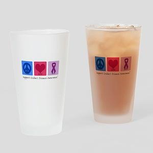Peace Love Crohn's Pint Glass