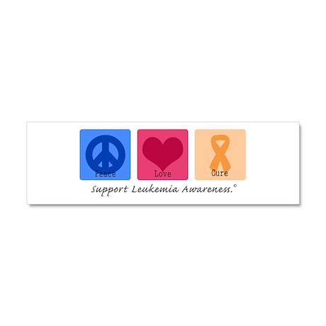 Peace Love Cure Leukemia Car Magnet 10 x 3