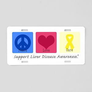 Peace Love Cure LD Aluminum License Plate