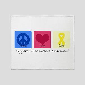 Peace Love Cure LD Throw Blanket