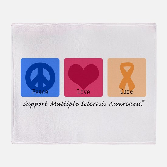 Peace Love Cure MS Throw Blanket