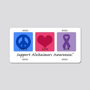 Peace Love Cure AD Aluminum License Plate