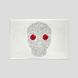 Day of the Dead Skull Rectangle Magnet