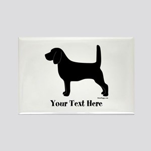 Beagle - Your Text! Rectangle Magnet