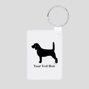 Beagle - Your Text! Aluminum Photo Keychain