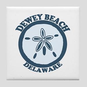 Dewey Beach DE - Sand Dollar Design Tile Coaster