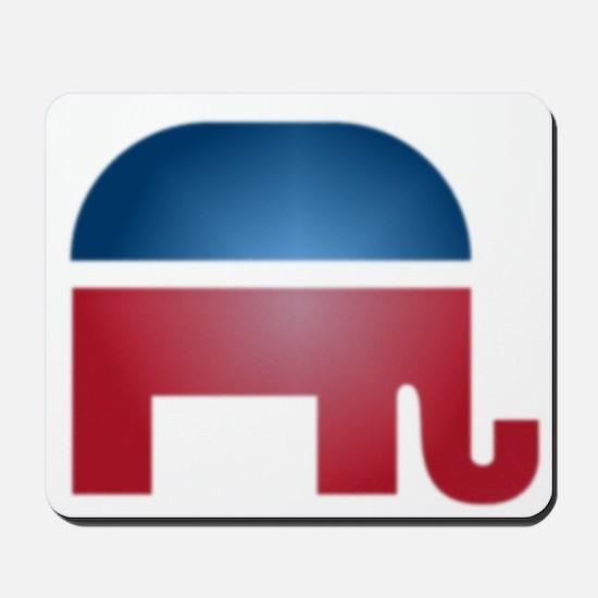 Blurry Elephant Mousepad