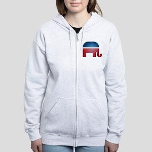 Blurry Elephant Women's Zip Hoodie