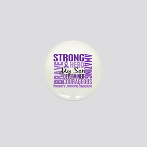Tribute Square Hodgkin's Lymphoma Mini Button