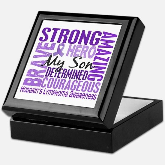 Tribute Square Hodgkin's Lymphoma Keepsake Box