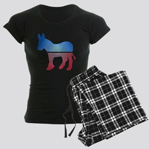Stained Glass Donkey Women's Dark Pajamas