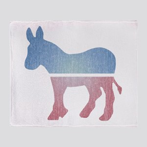 Faded Donkey Throw Blanket