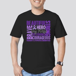 Tribute Square Hodgkin's Lymphoma Men's Fitted T-S