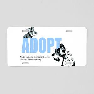 Adopt Logo Aluminum License Plate