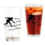 Strip Poker Pint Glass