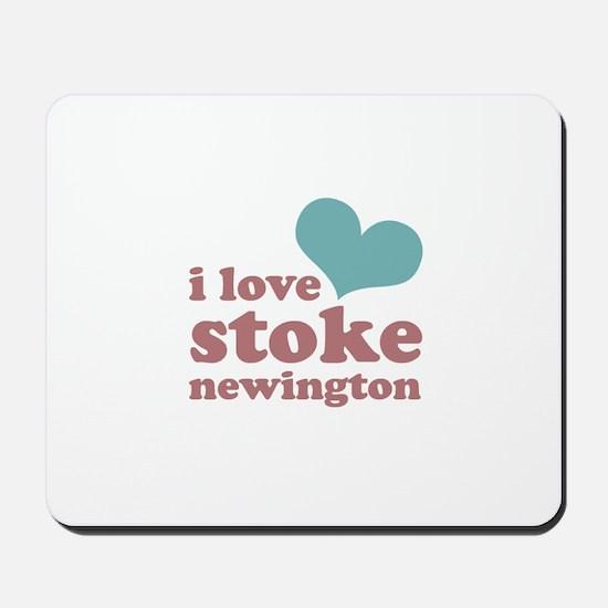 i love stoke newington (blue/ Mousepad