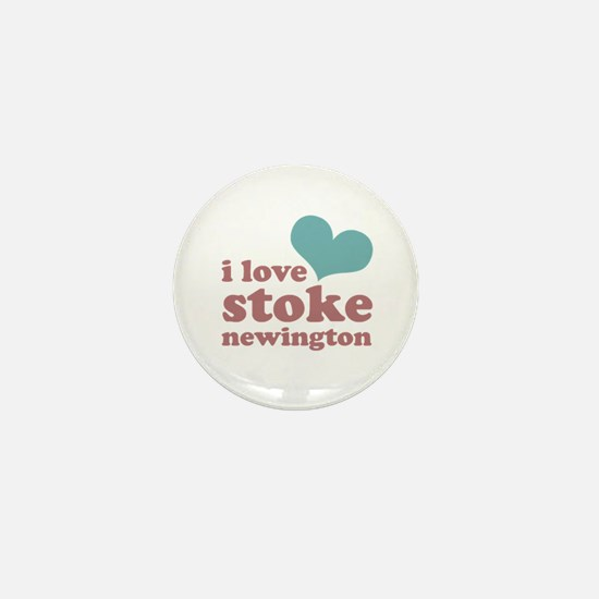 i love stoke newington (blue/ Mini Button