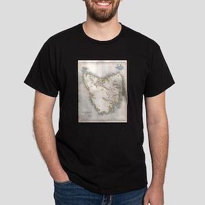 Vintage Map of Tasmania (1837) T-Shirt