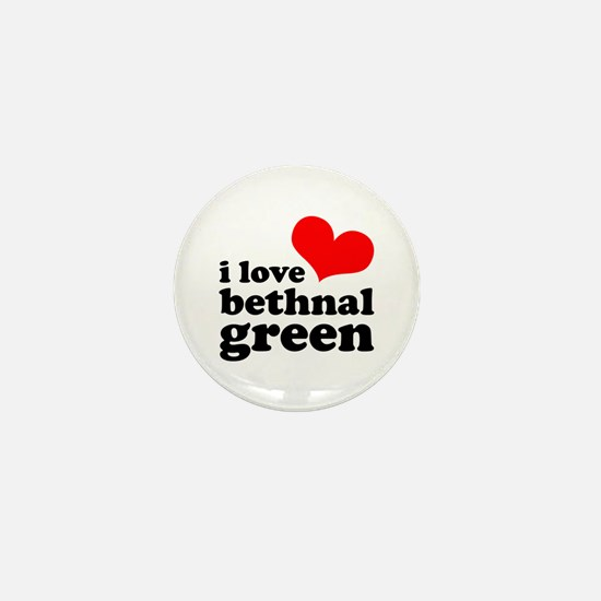 i love bethnal green (red/bla Mini Button