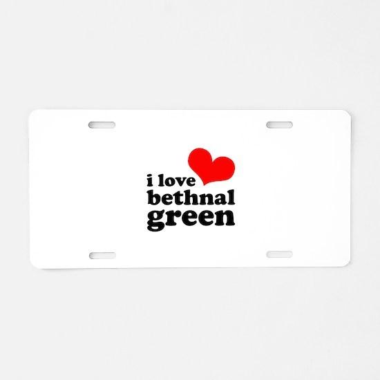i love bethnal green (red/bla Aluminum License Pla