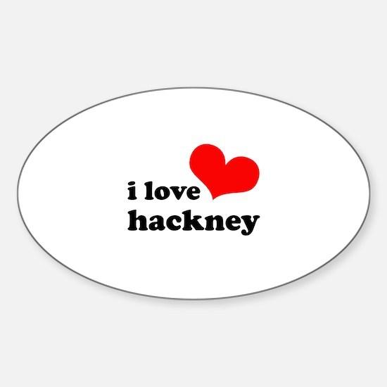 i love hackney (red/black) Sticker (Oval)