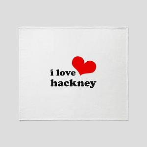 i love hackney (red/black) Throw Blanket