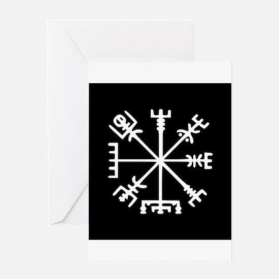 Viking Compass : Vegvisir Greeting Card