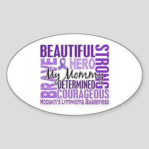 I Wear Violet 46 Hodgkin's Lymphoma Sticker (Oval)