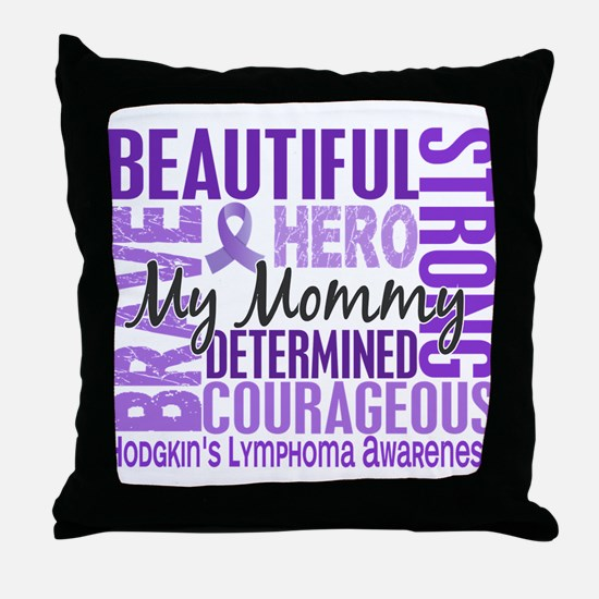 I Wear Violet 46 Hodgkin's Lymphoma Throw Pillow