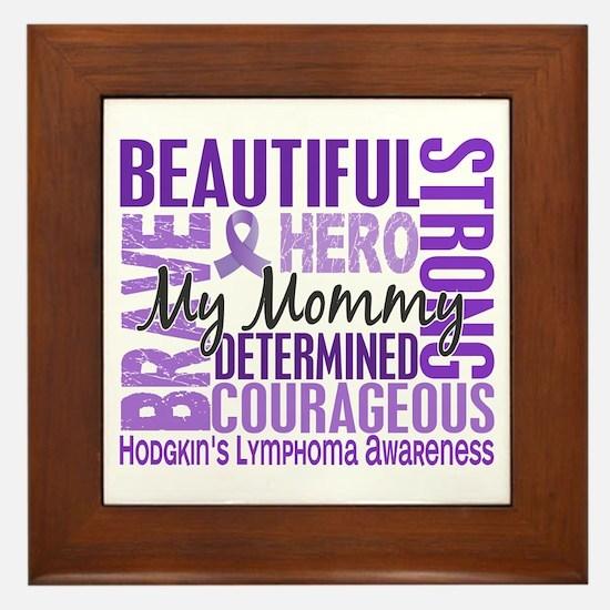 I Wear Violet 46 Hodgkin's Lymphoma Framed Tile