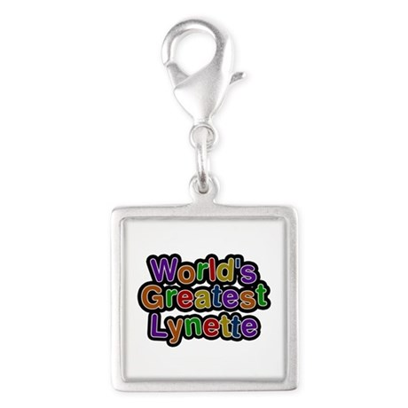 World's Greatest Lynette Silver Square Charm