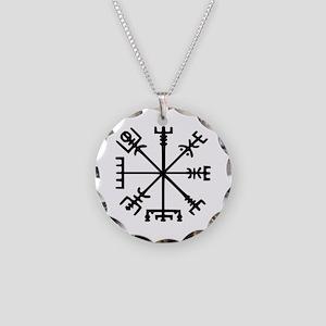 Viking Compass : Vegvisir Necklace Circle Charm