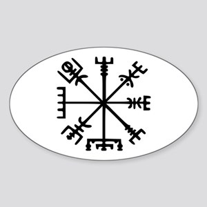 Viking Compass : Vegvisir Sticker (Oval)