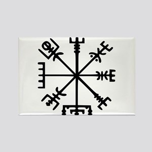 Viking Compass : Vegvisir Rectangle Magnet