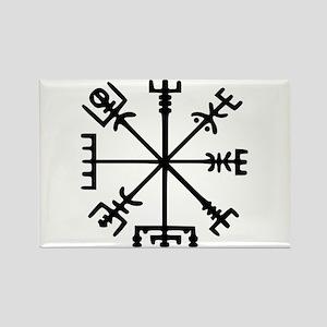 Viking Compass : Vegvisir Rectangle Magnet