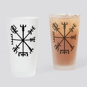 Viking Compass : Vegvisir Drinking Glass