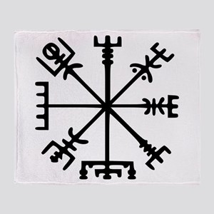 Viking Compass : Vegvisir Throw Blanket