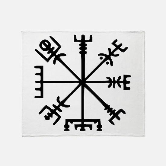 Viking Compass : Vegvisir Throw Blanket