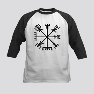 Viking Compass : Vegvisir Kids Baseball Jersey