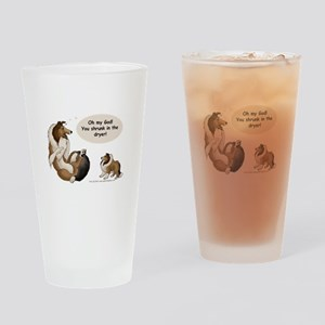 Sheltie Prank Pint Glass