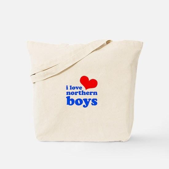 i love northern boys (heart, Tote Bag