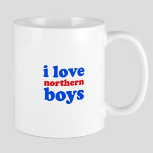 i love northern boys (text, b Mug