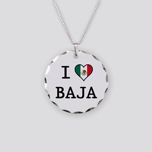 I Love Baja Necklace Circle Charm