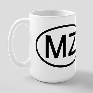 MZ - Initial Oval Large Mug