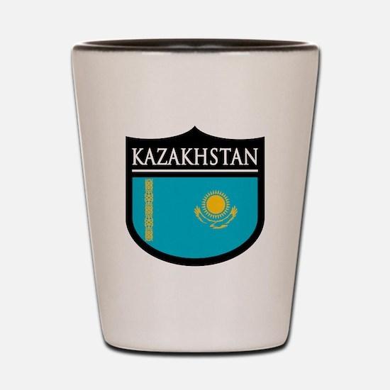 Kazakhstan Patch Shot Glass