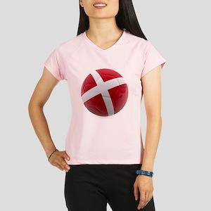 Denmark World Cup Ball Women's Sports T-Shirt