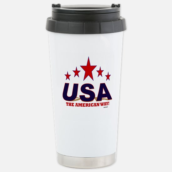 USA The American Way Stainless Steel Travel Mug
