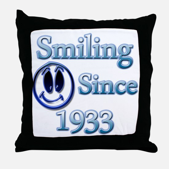 Cool Born in 1933 birthday Throw Pillow