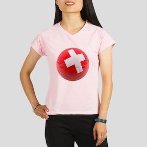 Switzerland World Cup Ball Women's Sports T-Shirt